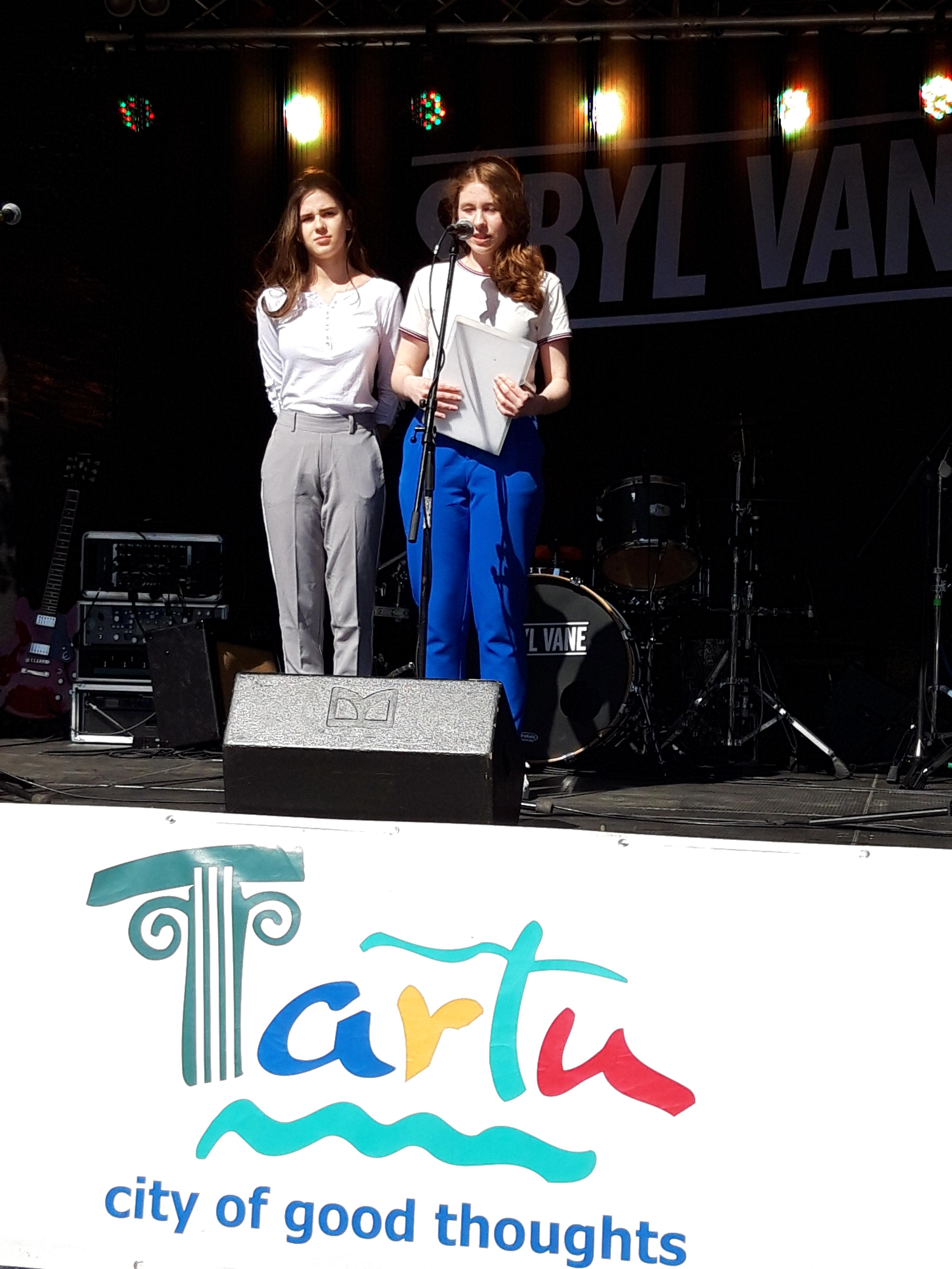 NVRK õpilased Tartu Euroopa Noorte Päeval